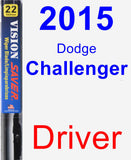 Driver Wiper Blade for 2015 Dodge Challenger - Vision Saver