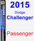 Passenger Wiper Blade for 2015 Dodge Challenger - Vision Saver