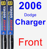 Front Wiper Blade Pack for 2006 Dodge Charger - Vision Saver