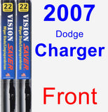 Front Wiper Blade Pack for 2007 Dodge Charger - Vision Saver