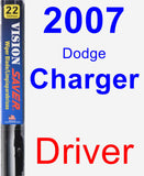 Driver Wiper Blade for 2007 Dodge Charger - Vision Saver
