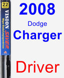 Driver Wiper Blade for 2008 Dodge Charger - Vision Saver