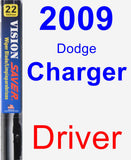 Driver Wiper Blade for 2009 Dodge Charger - Vision Saver