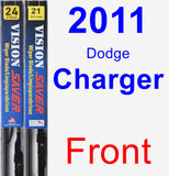 Front Wiper Blade Pack for 2011 Dodge Charger - Vision Saver
