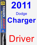 Driver Wiper Blade for 2011 Dodge Charger - Vision Saver