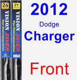 Front Wiper Blade Pack for 2012 Dodge Charger - Vision Saver