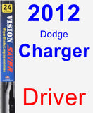 Driver Wiper Blade for 2012 Dodge Charger - Vision Saver