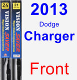 Front Wiper Blade Pack for 2013 Dodge Charger - Vision Saver