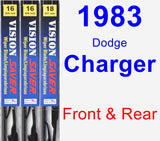 Front & Rear Wiper Blade Pack for 1983 Dodge Charger - Vision Saver