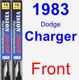 Front Wiper Blade Pack for 1983 Dodge Charger - Vision Saver