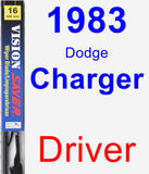 Driver Wiper Blade for 1983 Dodge Charger - Vision Saver