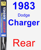 Rear Wiper Blade for 1983 Dodge Charger - Vision Saver