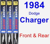 Front & Rear Wiper Blade Pack for 1984 Dodge Charger - Vision Saver