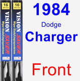 Front Wiper Blade Pack for 1984 Dodge Charger - Vision Saver