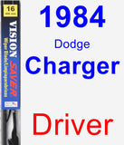 Driver Wiper Blade for 1984 Dodge Charger - Vision Saver