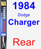Rear Wiper Blade for 1984 Dodge Charger - Vision Saver