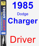 Driver Wiper Blade for 1985 Dodge Charger - Vision Saver