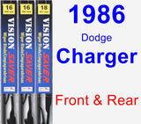 Front & Rear Wiper Blade Pack for 1986 Dodge Charger - Vision Saver