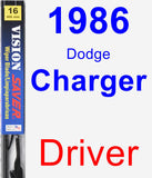 Driver Wiper Blade for 1986 Dodge Charger - Vision Saver