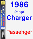 Passenger Wiper Blade for 1986 Dodge Charger - Vision Saver