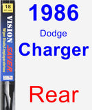 Rear Wiper Blade for 1986 Dodge Charger - Vision Saver