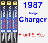 Front & Rear Wiper Blade Pack for 1987 Dodge Charger - Vision Saver