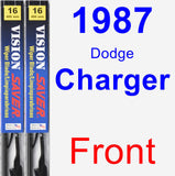 Front Wiper Blade Pack for 1987 Dodge Charger - Vision Saver