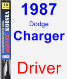 Driver Wiper Blade for 1987 Dodge Charger - Vision Saver