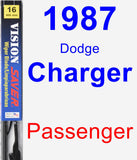 Passenger Wiper Blade for 1987 Dodge Charger - Vision Saver
