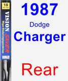 Rear Wiper Blade for 1987 Dodge Charger - Vision Saver