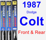 Front & Rear Wiper Blade Pack for 1987 Dodge Colt - Vision Saver