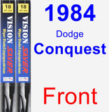 Front Wiper Blade Pack for 1984 Dodge Conquest - Vision Saver