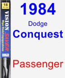 Passenger Wiper Blade for 1984 Dodge Conquest - Vision Saver
