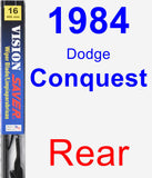 Rear Wiper Blade for 1984 Dodge Conquest - Vision Saver