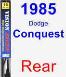 Rear Wiper Blade for 1985 Dodge Conquest - Vision Saver