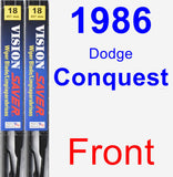 Front Wiper Blade Pack for 1986 Dodge Conquest - Vision Saver