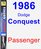Passenger Wiper Blade for 1986 Dodge Conquest - Vision Saver