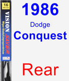 Rear Wiper Blade for 1986 Dodge Conquest - Vision Saver