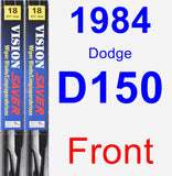 Front Wiper Blade Pack for 1984 Dodge D150 - Vision Saver