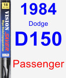 Passenger Wiper Blade for 1984 Dodge D150 - Vision Saver