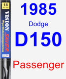 Passenger Wiper Blade for 1985 Dodge D150 - Vision Saver