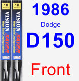 Front Wiper Blade Pack for 1986 Dodge D150 - Vision Saver