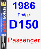 Passenger Wiper Blade for 1986 Dodge D150 - Vision Saver