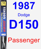 Passenger Wiper Blade for 1987 Dodge D150 - Vision Saver