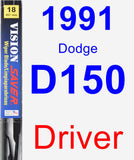 Driver Wiper Blade for 1991 Dodge D150 - Vision Saver