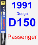 Passenger Wiper Blade for 1991 Dodge D150 - Vision Saver