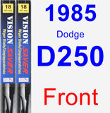 Front Wiper Blade Pack for 1985 Dodge D250 - Vision Saver
