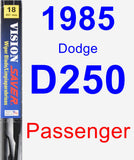 Passenger Wiper Blade for 1985 Dodge D250 - Vision Saver