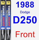 Front Wiper Blade Pack for 1988 Dodge D250 - Vision Saver