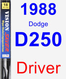 Driver Wiper Blade for 1988 Dodge D250 - Vision Saver